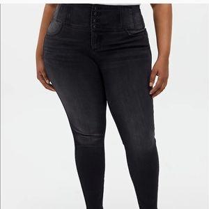 Torrid Black Corset Jeans, size 10R